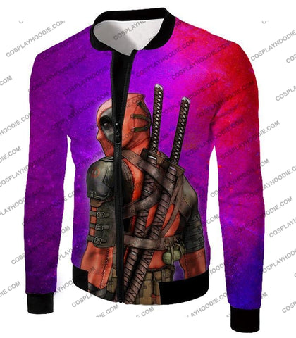 Image of Marvels X-Force Mutant Deadpool Psychedelic Print T-Shirt Dp035 Jacket / Us Xxs (Asian Xs)