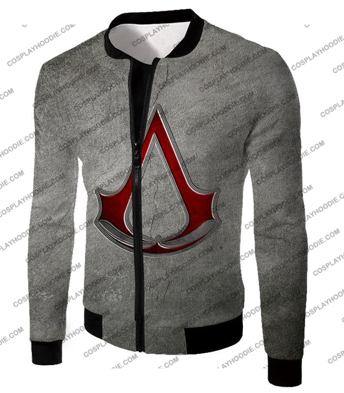 Cool Assassins Creed Symbol Awesome Promo Grey T-Shirt Ac035 Jacket / Us Xxs (Asian Xs)