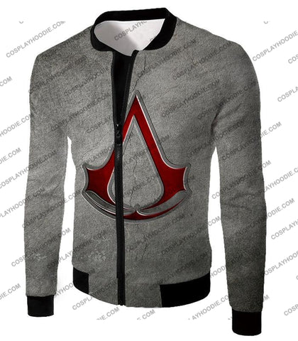 Image of Cool Assassins Creed Symbol Awesome Promo Grey T-Shirt Ac035 Jacket / Us Xxs (Asian Xs)