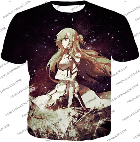 Image of Sword Art Online Beautiful Blonde Asuna Yuuki Cute Sao Avatar Awesome Graphic T-Shirt Sao036 / Us