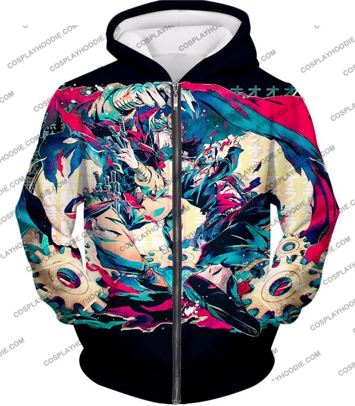 Jojos Bizarre Adventure C Intense Battle Jojo X Dio Action T-Shirt Jo036 Zip Up Hoodie / Us Xxs