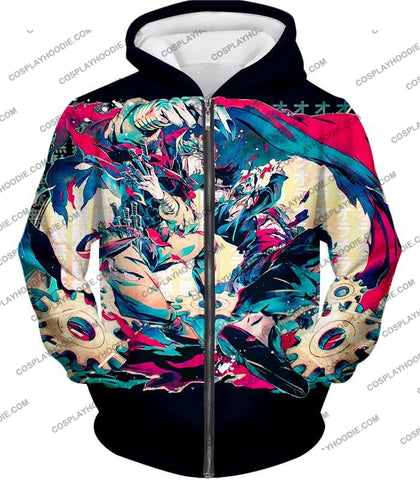 Image of Jojos Bizarre Adventure C Intense Battle Jojo X Dio Action T-Shirt Jo036 Zip Up Hoodie / Us Xxs