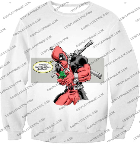 Image of Funny X-Force Mutant Deadpool Comic Promo White T-Shirt Dp036 Sweatshirt / Us Xxs (Asian Xs)