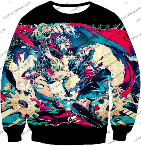 Image of Jojos Bizarre Adventure C Intense Battle Jojo X Dio Action T-Shirt Jo036 Sweatshirt / Us Xxs (Asian