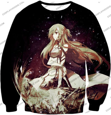 Image of Sword Art Online Beautiful Blonde Asuna Yuuki Cute Sao Avatar Awesome Graphic T-Shirt Sao036