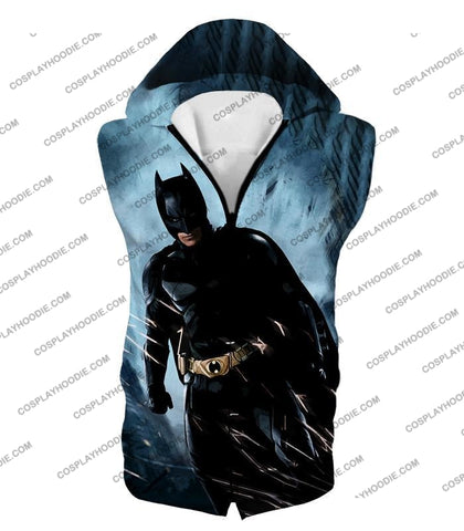 Image of Dc Comic Action Hero Batman Cool Graphic T-Shirt Bm036 Hooded Tank Top / Us Xxs (Asian Xs)