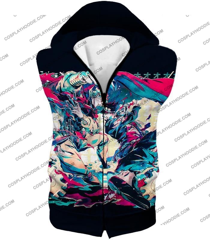 Jojos Bizarre Adventure C Intense Battle Jojo X Dio Action T-Shirt Jo036 Hooded Tank Top / Us Xxs