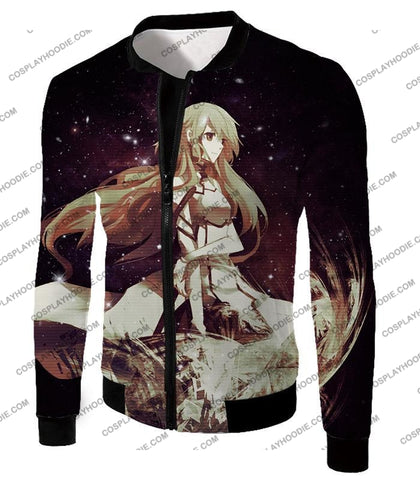 Image of Sword Art Online Beautiful Blonde Asuna Yuuki Cute Sao Avatar Awesome Graphic T-Shirt Sao036 Jacket