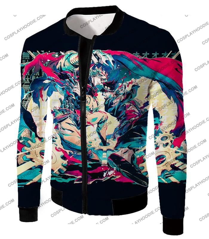 Jojos Bizarre Adventure C Intense Battle Jojo X Dio Action T-Shirt Jo036 Jacket / Us Xxs (Asian Xs)