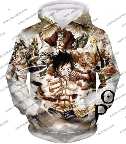 Image of One Piece Worst Generation Highest Bounty Pirates All In Cool T-Shirt Op037 Hoodie / Us Xxs (Asian