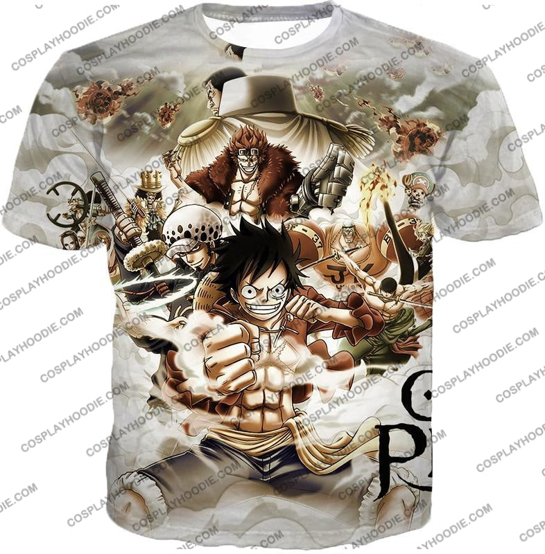 One Piece Worst Generation Highest Bounty Pirates All In Cool T-Shirt Op037 / Us Xxs (Asian Xs)