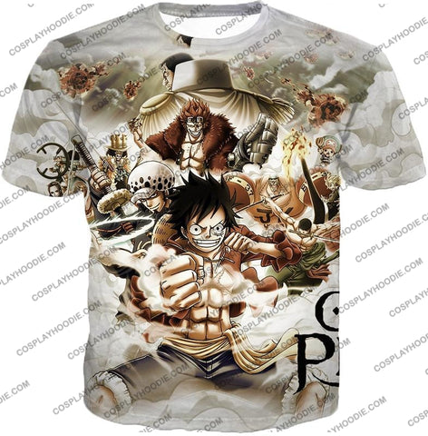 Image of One Piece Worst Generation Highest Bounty Pirates All In Cool T-Shirt Op037 / Us Xxs (Asian Xs)