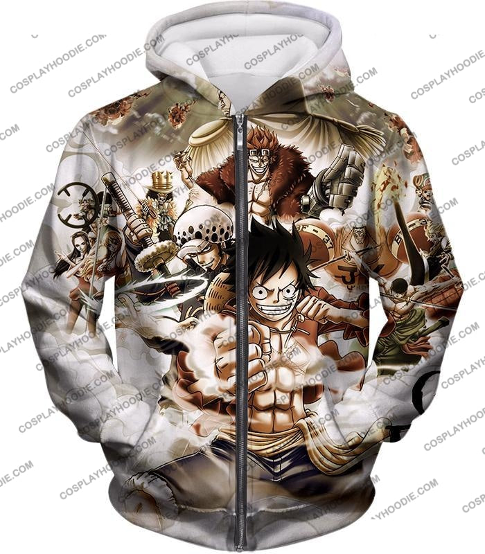 One Piece Worst Generation Highest Bounty Pirates All In Cool T-Shirt Op037 Zip Up Hoodie / Us Xxs