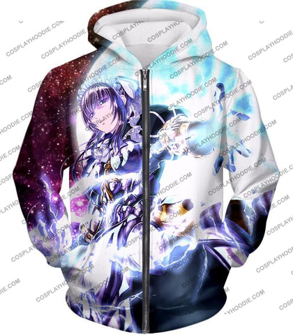Image of Overlord Powerful Adventurer Nabe Awesome Anime Action T-Shirt Ol037 Zip Up Hoodie / Us Xxs (Asian
