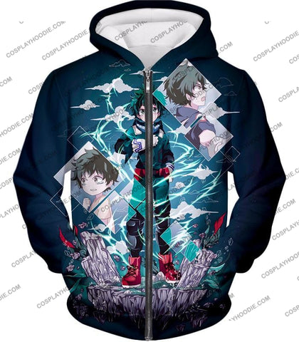 Image of My Hero Academia Chasing The Dreams Of Izuki Midoriya Awesome Anime T-Shirt Mha087 Zip Up Hoodie /