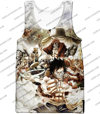 Image of One Piece Worst Generation Highest Bounty Pirates All In Cool T-Shirt Op037 Tank Top / Us Xxs (Asian