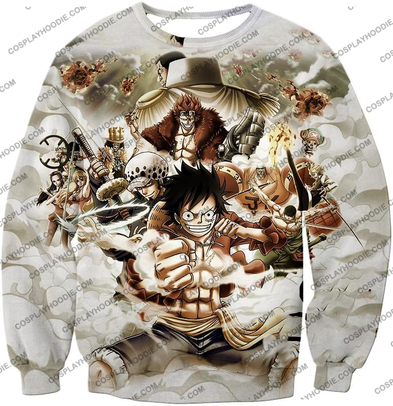 One Piece Worst Generation Highest Bounty Pirates All In Cool T-Shirt Op037 Sweatshirt / Us Xxs