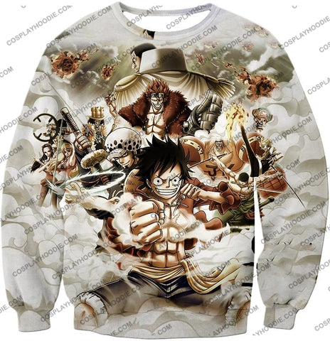 Image of One Piece Worst Generation Highest Bounty Pirates All In Cool T-Shirt Op037 Sweatshirt / Us Xxs