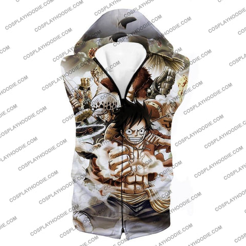 Image of One Piece Worst Generation Highest Bounty Pirates All In Cool T-Shirt Op037 Hooded Tank Top / Us Xxs