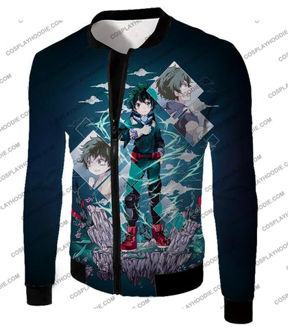 Image of My Hero Academia Chasing The Dreams Of Izuki Midoriya Awesome Anime T-Shirt Mha087 Jacket / Us Xxs