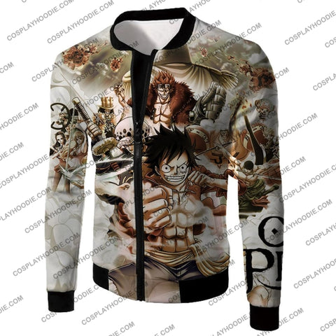 Image of One Piece Worst Generation Highest Bounty Pirates All In Cool T-Shirt Op037 Jacket / Us Xxs (Asian