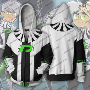 Danny Phantom Hoodie - 10 Years Later Jacket Cosplay
