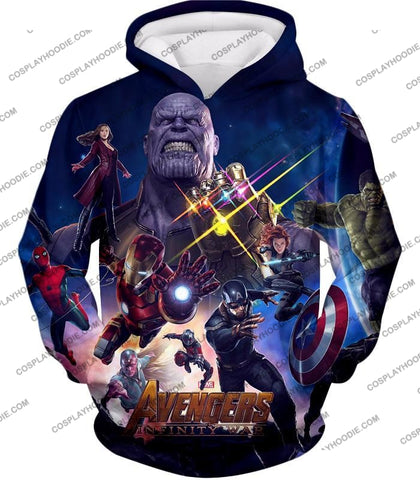 Image of The Avengers Awesome Infinity War Promo T-Shirt Ta038 Hoodie / Us Xxs (Asian Xs)