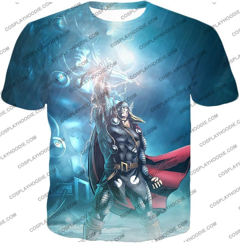 Thor Odinson The God Of Thunder Cool Action T-Shirt Thor038 / Us Xxs (Asian Xs)