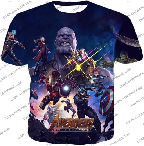 Image of The Avengers Awesome Infinity War Promo T-Shirt Ta038 / Us Xxs (Asian Xs)