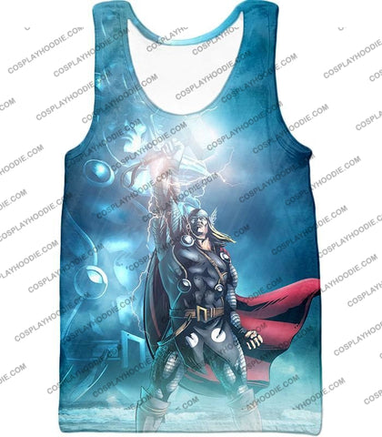 Image of Thor Odinson The God Of Thunder Cool Action T-Shirt Thor038 Tank Top / Us Xxs (Asian Xs)
