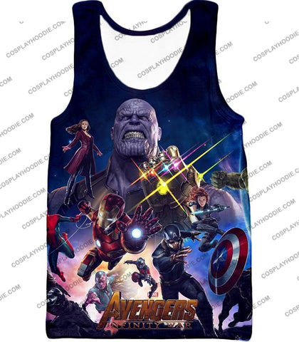Image of The Avengers Awesome Infinity War Promo T-Shirt Ta038 Tank Top / Us Xxs (Asian Xs)