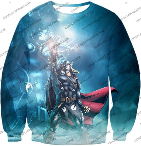 Image of Thor Odinson The God Of Thunder Cool Action T-Shirt Thor038 Sweatshirt / Us Xxs (Asian Xs)