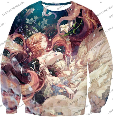 Image of Cute Blonde Haired Anime Beauty Nunnaly Vi Britannia T-Shirt Cg038 Sweatshirt / Us Xxs (Asian Xs)