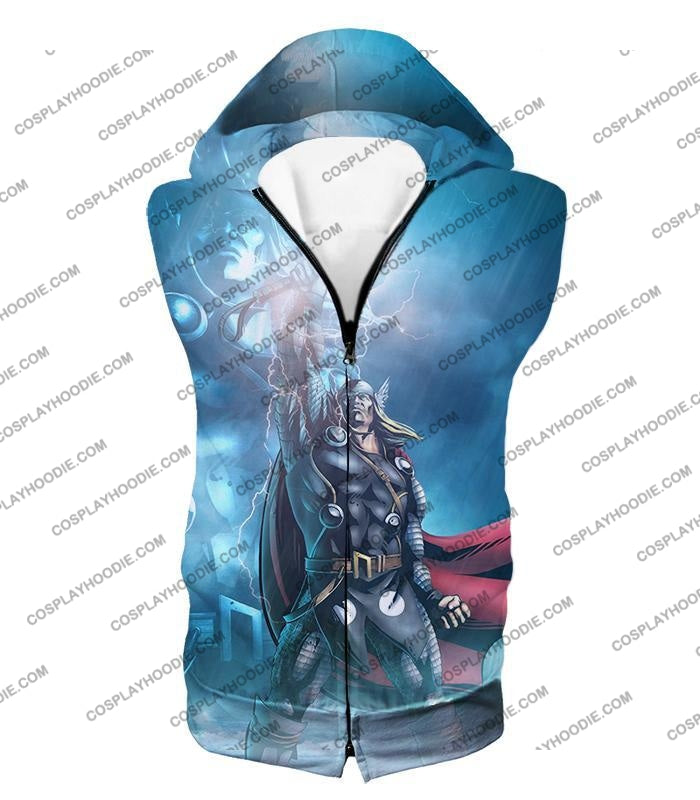 Thor Odinson The God Of Thunder Cool Action T-Shirt Thor038 Hooded Tank Top / Us Xxs (Asian Xs)
