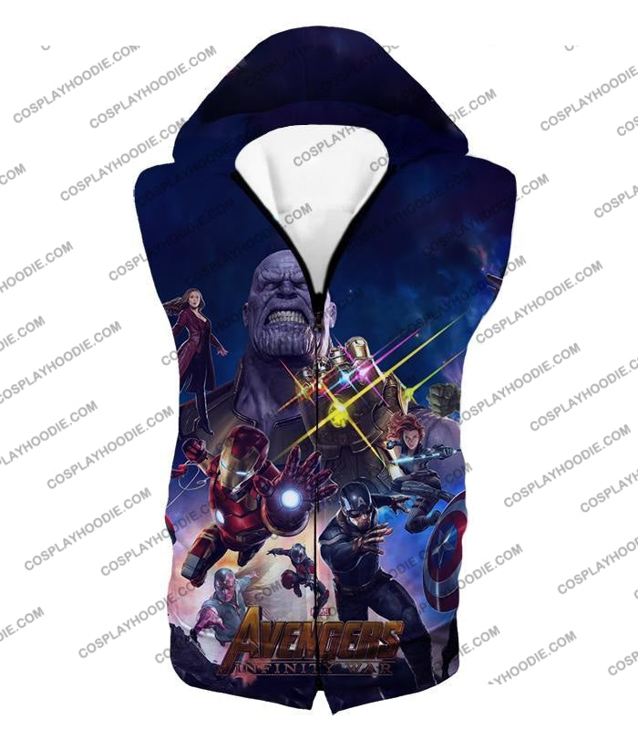 The Avengers Awesome Infinity War Promo T-Shirt Ta038 Hooded Tank Top / Us Xxs (Asian Xs)