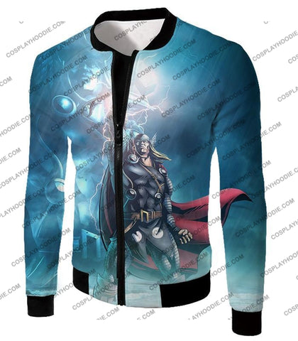 Image of Thor Odinson The God Of Thunder Cool Action T-Shirt Thor038 Jacket / Us Xxs (Asian Xs)