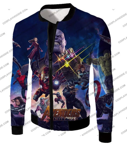 Image of The Avengers Awesome Infinity War Promo T-Shirt Ta038 Jacket / Us Xxs (Asian Xs)