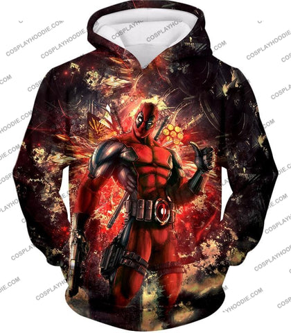 Image of Ultimate Action Anti-Hero Deadpool Super Cool T-Shirt Dp039 Hoodie / Us Xxs (Asian Xs)