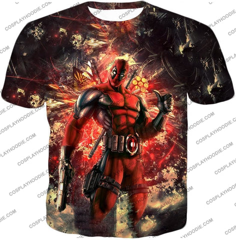 Image of Ultimate Action Anti-Hero Deadpool Super Cool T-Shirt Dp039 / Us Xxs (Asian Xs)