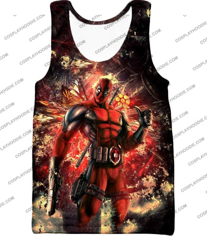 Image of Ultimate Action Anti-Hero Deadpool Super Cool T-Shirt Dp039 Tank Top / Us Xxs (Asian Xs)