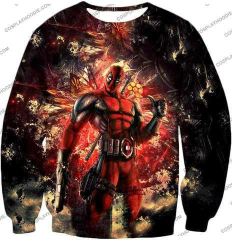 Image of Ultimate Action Anti-Hero Deadpool Super Cool T-Shirt Dp039 Sweatshirt / Us Xxs (Asian Xs)