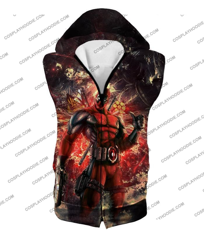 Ultimate Action Anti-Hero Deadpool Super Cool T-Shirt Dp039 Hooded Tank Top / Us Xxs (Asian Xs)