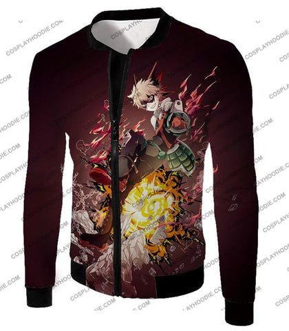Image of My Hero Academia Super Cool Exploding Anime Bakugo Katsuki Ultimate Action Red T-Shirt Mha089 Jacket