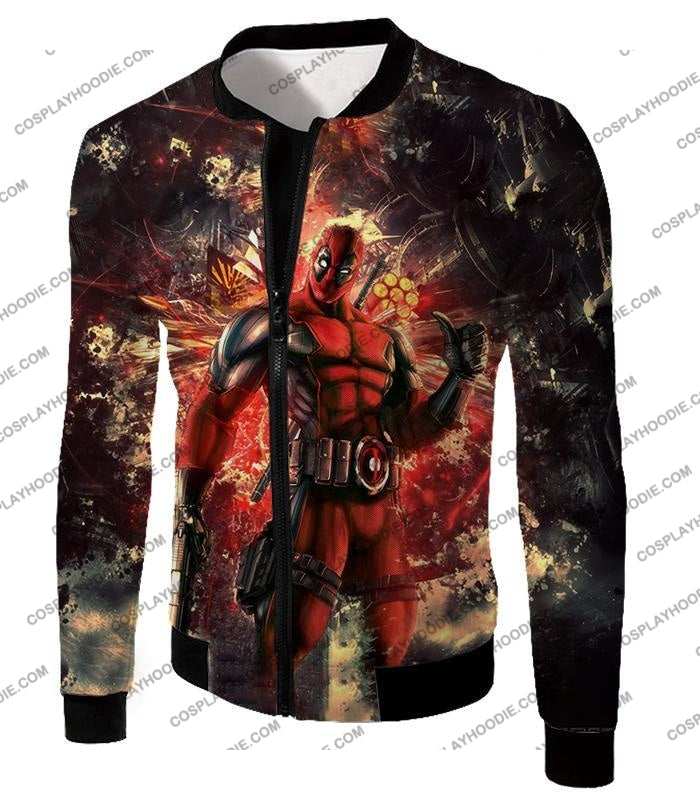 Ultimate Action Anti-Hero Deadpool Super Cool T-Shirt Dp039 Jacket / Us Xxs (Asian Xs)