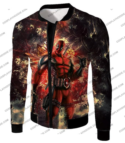 Image of Ultimate Action Anti-Hero Deadpool Super Cool T-Shirt Dp039 Jacket / Us Xxs (Asian Xs)