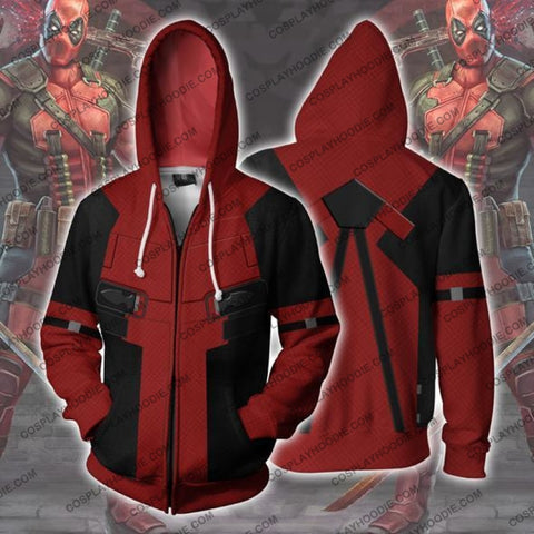 Image of Deadpool Hoodie Jacket Cosplay