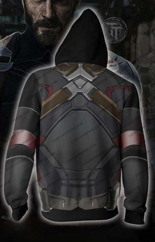 Avengers Infinity War Hoodies - Captain America Costume Zip Hoodie Jacket Cosplay