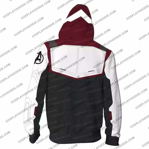 Image of The Avengers 4 Avengers: Endgame Quantum Suits White Zip Up Hoodie Cosplay Jacket