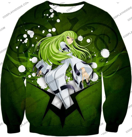 Image of Anime Girl C.c. The Immortal Witch Cool Graphic Green T-Shirt Cg004 Sweatshirt / Us Xxs (Asian Xs)