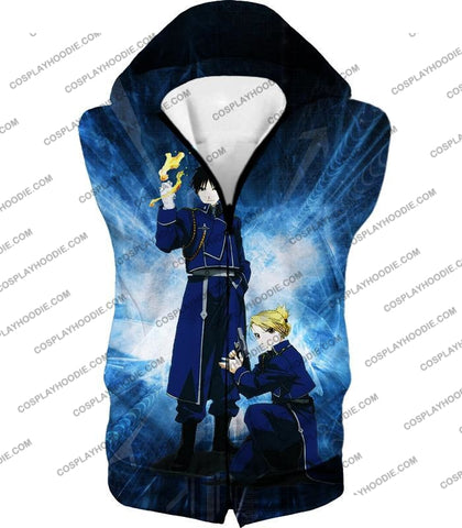 Image of Fullmetal Alchemist Awesome State Military Personnels Roy X Riza Anime Action Pose T-Shirt Fa004